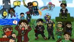 The Minecrafters (with speed drawing link!) by Dawnlauu