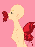 Butterfly Kisses -base- by Bases-by-Ienzoelaeus
