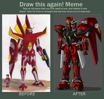 Mobile Suit (before and after) by ToaLittleboehn