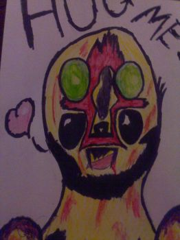SCP-173: Huggle??? by The-Krazy-One