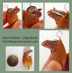 Nut Pendant - Chipmunk - SOLD by Bittythings