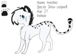 Freckles The Snow Leopard :3 by batskies