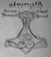 Thors Hammer....non color by AngelKast