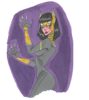 Marker Sketch: Catwoman by sillybilly13