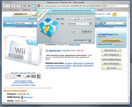 Gift it Dialog box by ncus
