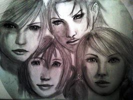 The Girls of FFXIII by doodle-turtle