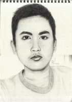 Self Portrait, Pencil by TheR-tist