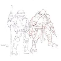 Don and Raph by GavinMichelli