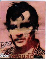 Jack Kerouac as book cover by x-aeroplane-x