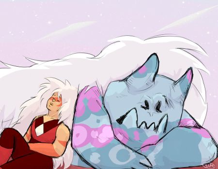 Jasper and corrupted gem by Swk-artblog