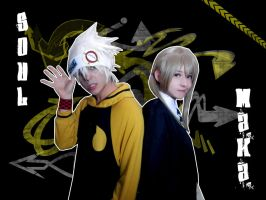 -Soul and Maka- So cool. by Nami-Ayashi