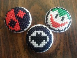 Batman Inspired Buttons by Sew-Madd
