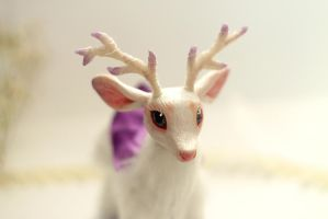 Spring flower deer. art doll. sold by RedFoxAlice