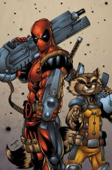 DEADPOOL and ROCKET colors by seanforney