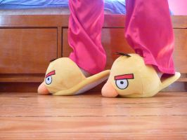 Y Angry Birds Slippers, side by ExileLink