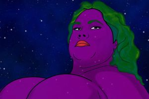 purple space lady by jimmurphy1906