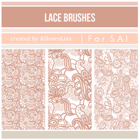 [For SAI] Lace Brushes by ASlovesLisa