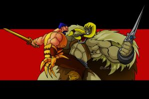 King Grayskull vs Shidoshi by Giga-Leo