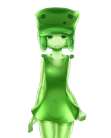 minecraft mob: small slime (tired) by patrickwright15