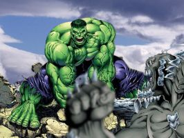 The Hulk vs Doomsday by SUPERMAN3D