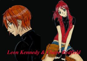 Leon and Claire Dark Wallpaper by LeonandClaireBSAA