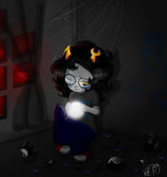 .:Little Sad Vriska COLORED:. by veri119