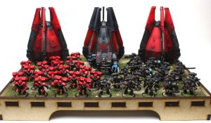 Death Company and Blood Angels by jstncloud