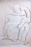 female abstract sketch by Haeddre