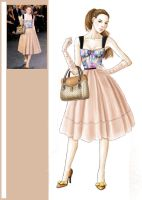 louis vuitton illustration by Tania-S