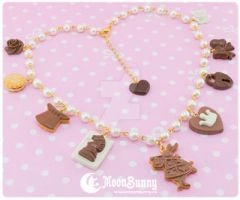 Chocolate wonderland Necklace by CuteMoonbunny