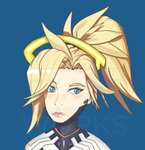 Patreon extras - Mercy bust by Cyane-ei