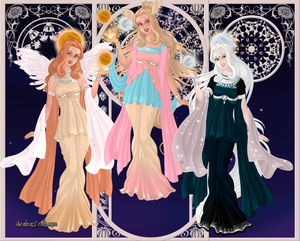 GoddessMaker: Titanesses - Eos, Theia and Selene