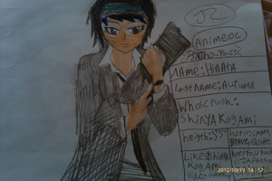 psycho-pass OC of her name is Hinata Autumn by Bluedragoncartoon