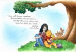 Rebeca and Pooh by bllueart
