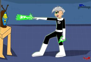 Anti-SpongeBob Danny Phantom by DracorianAmanda