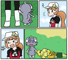 Isabelle and Espurr aftermath by Sixala