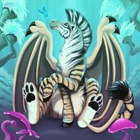 Zebra Tiger Dragon Thing by Nehvah