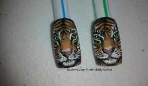 Tiger Nail Art - Detail by ZombieKittyNails on DeviantArt