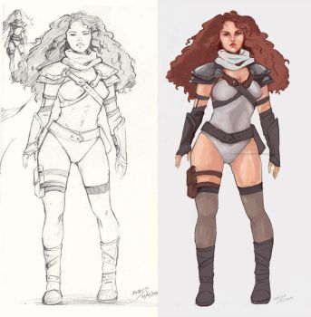 Practice - Random Character Concept with color by LonelyFullMoon