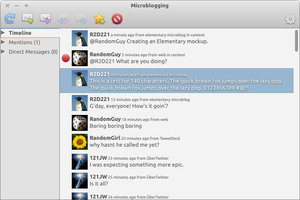 Elementary Microbloggin mockup by ArturoIlhuitemoc