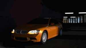BMW in the tunnel by Hiddenus