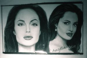 Angelina Jolie (Pencil Drawing) by JikeArts