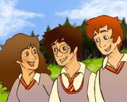 The golden trio by AninhaT-T