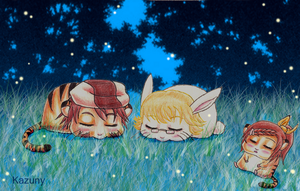 CroMimi- Tiger and Bunny Night by Kazuny