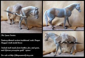 The Spear Carrier - custom Breyer horse by lupagreenwolf