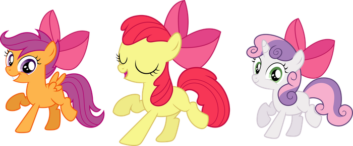 CMC With and Without Bows by TheShadowStone