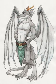 Bengges as a gargoyle by Neomae