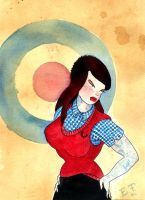Mod Girl Pin Up by MummysLittleMonster