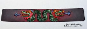 Quetzalcoatl Leather Cuff by CoreyChiev