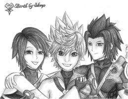 kh BBS crew by cold-nostalgia